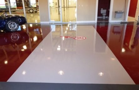 Epoxy-floor-with-urethane-topcoat-installers-Louisville-Kentucky